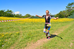 Trail running athlete Royalty Free Stock Images