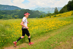 Trail running athlete Royalty Free Stock Photo