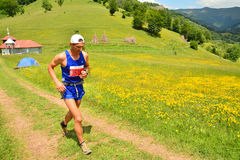 Trail running athlete Royalty Free Stock Photography