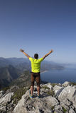 Trail running athlete man training for fitness Royalty Free Stock Image