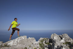 Trail running athlete man training for fitness Royalty Free Stock Photo