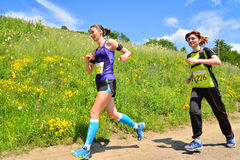 Trail running athletes Royalty Free Stock Image