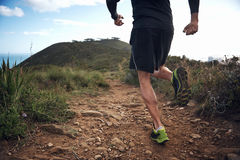 Trail running fitness Royalty Free Stock Images