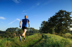 Trail running! Stock Photography