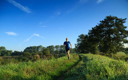 Trail running! Royalty Free Stock Images