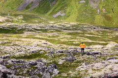 Trail running man in nature landscape Royalty Free Stock Photo