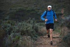 Trail running man Royalty Free Stock Photos