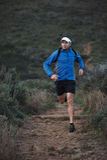 Trail running man Stock Photos
