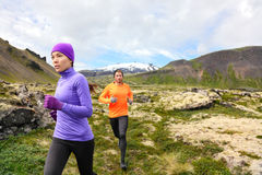 Trail running people cross country runners royalty free stock image