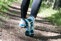 Trail running or trail walking Royalty Free Stock Photos