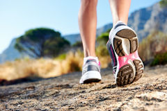 Trail running woman Stock Photography