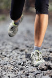 Trail running woman on mountain Royalty Free Stock Photo