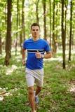 Trail running Stock Image