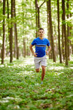 Trail running Stock Images