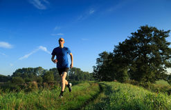 Trail running! Royalty Free Stock Image