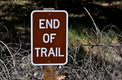 Trail's End Sign Stock Photography