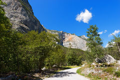 Trail in Sarca Valley - Trentino Italy Stock Image