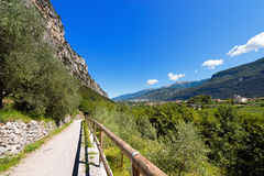 Trail in Sarca Valley - Trentino Italy Royalty Free Stock Photography