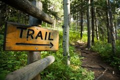 Trail Sign Stock Image