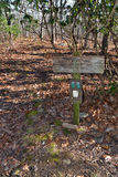 Trail Sign on the Appalachian Trail Royalty Free Stock Photography