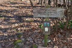 Trail Sign on the Appalachian Trail Royalty Free Stock Photos