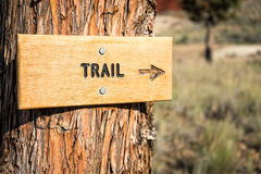 Trail Sign With Arrow in a National Monument Stock Photos