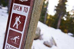 Trail Sign in Colorado Royalty Free Stock Photo
