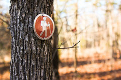 Trail Sign Royalty Free Stock Photography