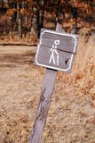 Trail sign Stock Photo