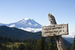 Trail sign, Pacific Crest Trail Royalty Free Stock Image