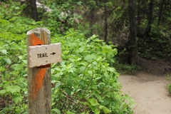 Trail sign Royalty Free Stock Photos