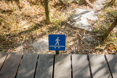 Trail signage Stock Images