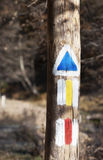 Trail signs - RAW format Royalty Free Stock Photography