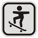 Skateboarder, road sign Royalty Free Stock Photography