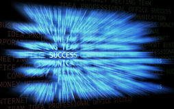 Trail of success. Success word shown in a business words mix background Royalty Free Stock Photos