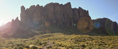 A Trail into the Superstition Mountain Wilderness Royalty Free Stock Images