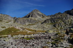 On the trail. Trail in the Tatra Mountains Stock Photography