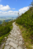 Trail in Tatra mountains, Zakopane, Poland Stock Image