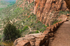 Trail to Angels Landing Stock Photo
