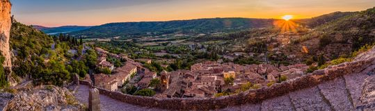 Trail in Moustiers Sainte Marie Royalty Free Stock Photography