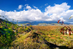 A trail to Diamond Head crater viewpoint on Oahu Stock Photography