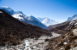 Trail to Everest base camp Royalty Free Stock Images