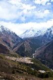 Trail to Everest base camp Royalty Free Stock Photography