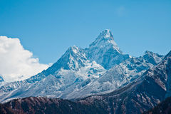 Trail to Everest base camp Stock Photo