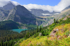 Trail to Grinnell Glacier in Glacier National Park Royalty Free Stock Photos
