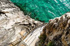Trail to Grotta del Bue Marino Stock Images