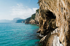Trail to Grotta del Bue Marino Royalty Free Stock Photos