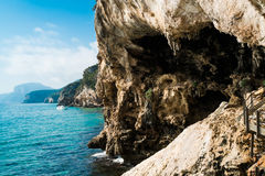 Trail to Grotta del Bue Marino Royalty Free Stock Photo