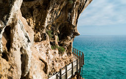 Trail to Grotta del Bue Marino Stock Photography