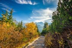 Trail to Hala Gasienicowa, Tatra mountains, Poland Royalty Free Stock Photo